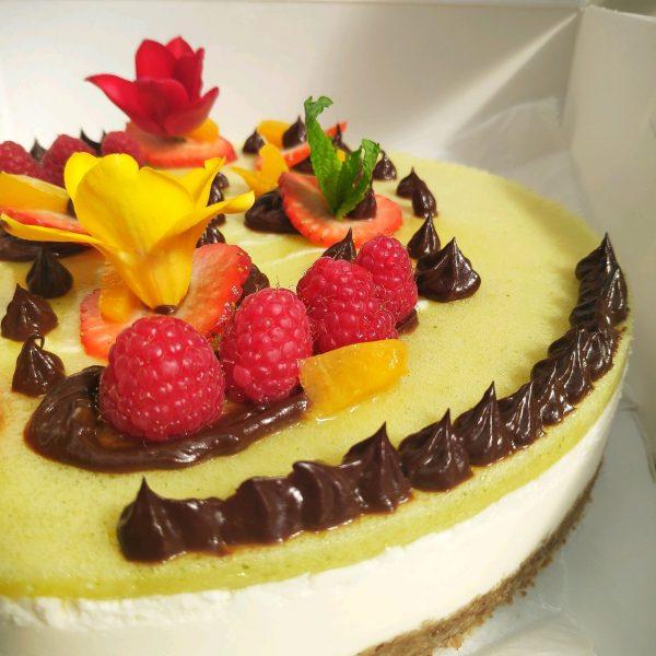 basil cheesecake