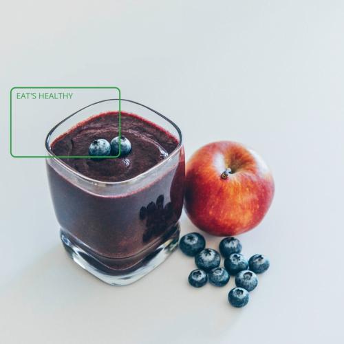 Raspberry and apple smoothie